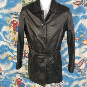 Wilson's leather ladies trench jacket Medium lined